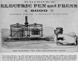 Edison electrical pen